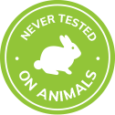 never tested on animals